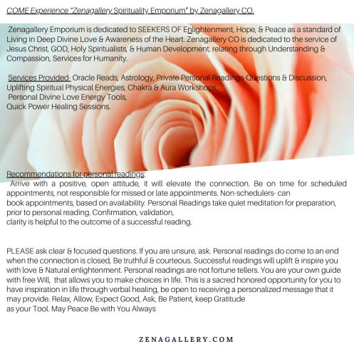 """LExperience ""Zenagallery Spirituality Emporium"". Zenagallery CO. Visit us online www. Zenagallery.com(1)"