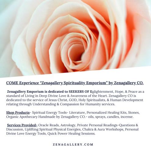 """LExperience ""Zenagallery Spirituality Emporium"". Zenagallery CO. Visit us online www. Zenagallery.com"